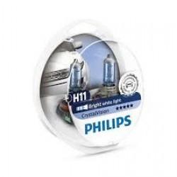 PHILIPS H11 Crystal Vision 12V 60/55W 4300K – 12362CVSM