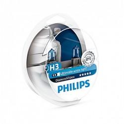 PHILIPS H3 12V 55W DIAMOND VISION 5000k 12336DVS2
