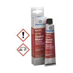 PERMATEX - RED RTV Κόκκινη Χημική Σιλικονούχα Φλαντζόκολλα Υψηλής Θερμοκρασίας 80ml 81161