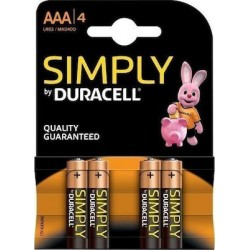 Duracell Simply AAA Μπαταρίες αλκαλικές 4×1.5V LR03 MN2400