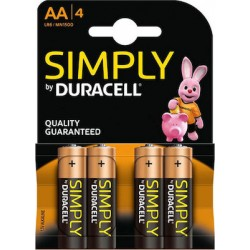 Duracell Simply AA Μπαταρίες αλκαλικές 4×1.5V LR6 MN1500