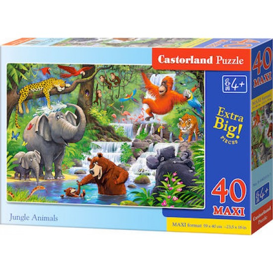 PUZZLE CASTORLAND 40 JUNGLE ANIMALS B-040315  ΠΑΙΧΝΙΔΙΑ